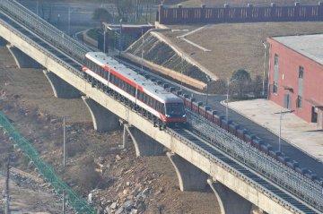 中國首條中低速磁浮鐵路最快3月初按圖試跑