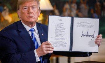 特朗普宣佈美國將退出伊核協議