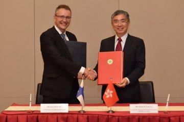 香港芬蘭簽署稅務協定