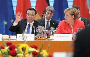 李克強與德國總理默克爾共同主持第五輪中德政府磋商