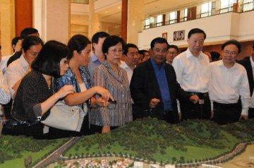 中國中小企業協會代表團考察西港特區