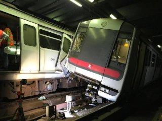 港鐵非運營時段列車相撞 事故原因仍在調查