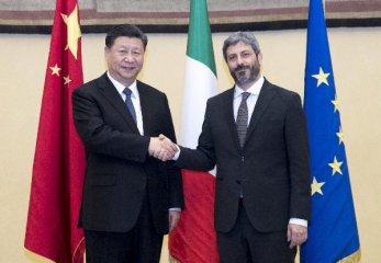习近平会见意大利众议长菲科