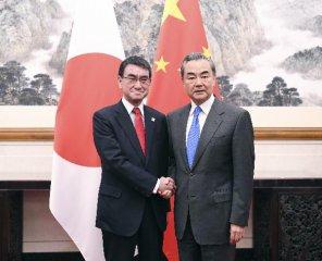 王毅與日本外相河野太郎舉行會談