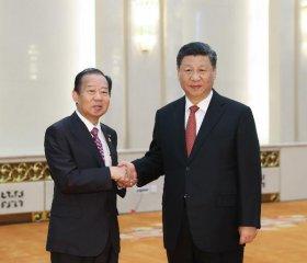 """高端访谈:""""一带一路""""倡议将大大促进亚洲繁荣--访日本自民党干事长二阶俊博"""