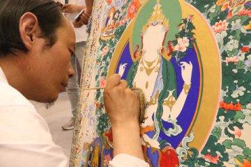 特寫:藏鄉里的唐卡畫師