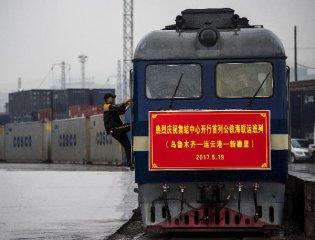 新疆霍爾果斯中歐(中亞)班列貨運量增長超五成